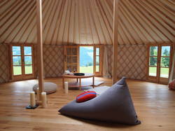 Oak flooring - Interior of 8mts yurt