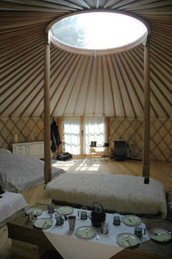 8mts yurt, interior with 200cm door