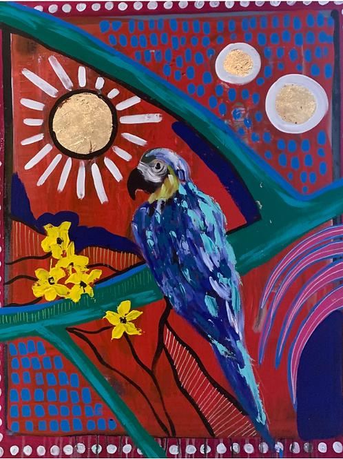 "Pintura ""Blue Parrot"" - Vero Villarreal Sada"