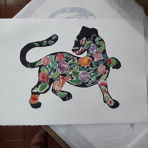 """Pintura """"Gato Ola"""" - María Canfield"""