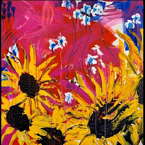 "Pintura ""Sunflower"" - Vero Villarreal Sada"