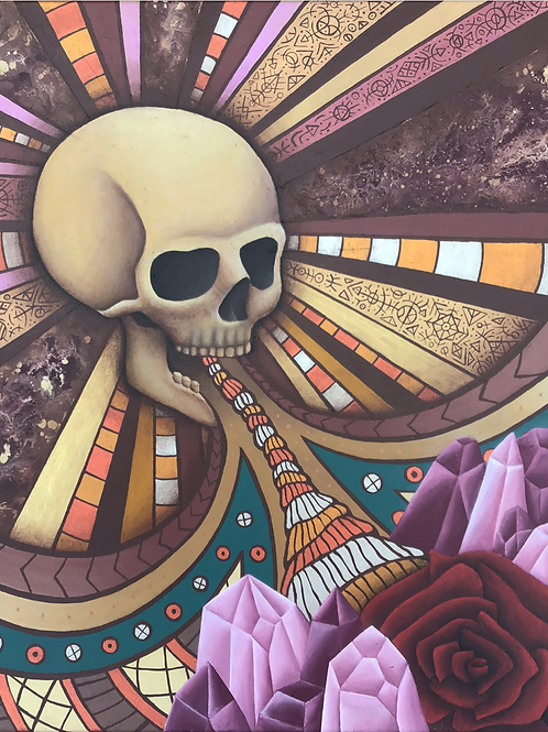 "Pintura ""La muerte genera vida"" - Bili Bala"