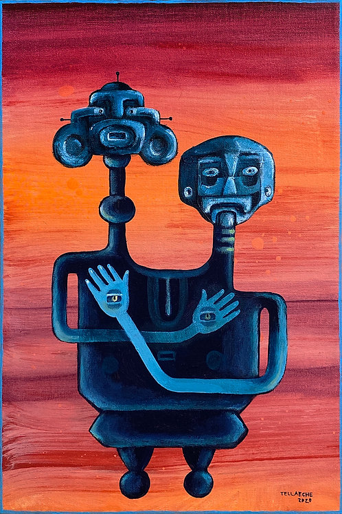 "Pintura ""Together 1"" - Jorge Tellaeche"
