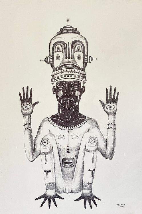 "Pintura ""Show me your hands"" - Jorge Tellaeche"