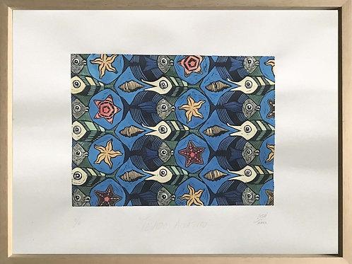 "Pintura ""Tejido acuático 3"" - Raúl Sisniega"
