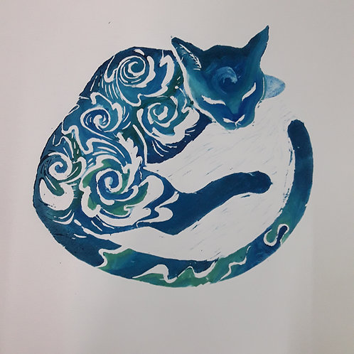 """Pintura """"Pantera Itzmeña"""" - María Canfield"""