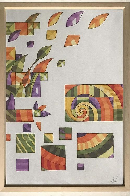 "Pintura ""Matemática Abstracta"" - Raúl Sisniega"