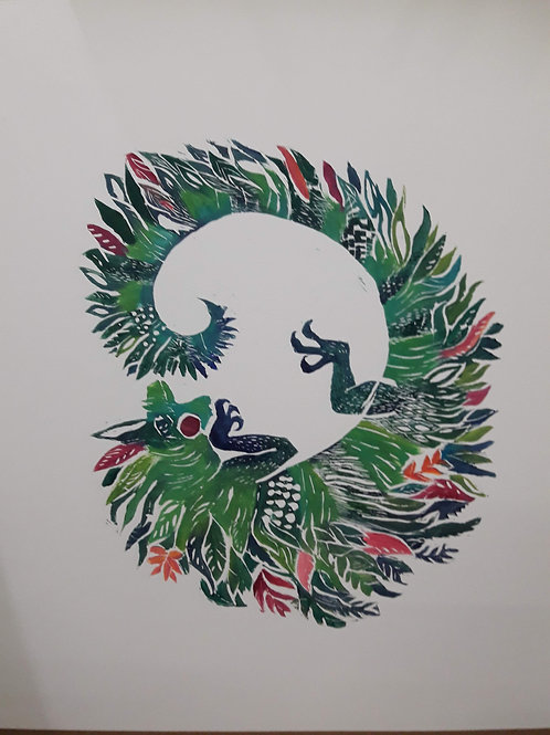 """Pintura """"Iguana Mariana"""" - María Canfield"""