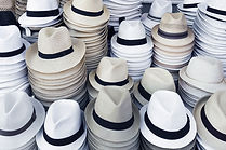 hats stacked