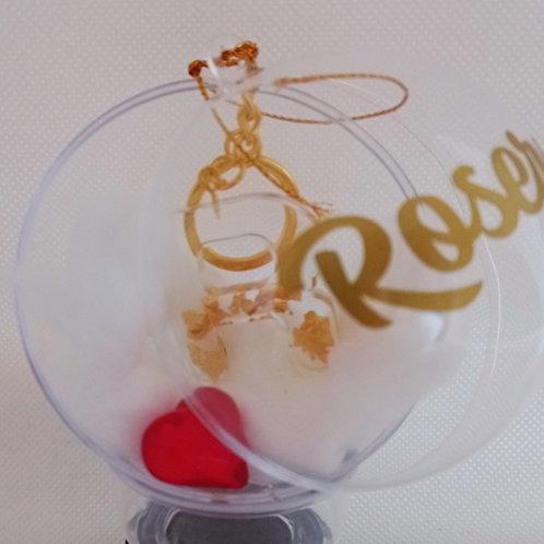 Bola transparente personalizada con llavero regalo
