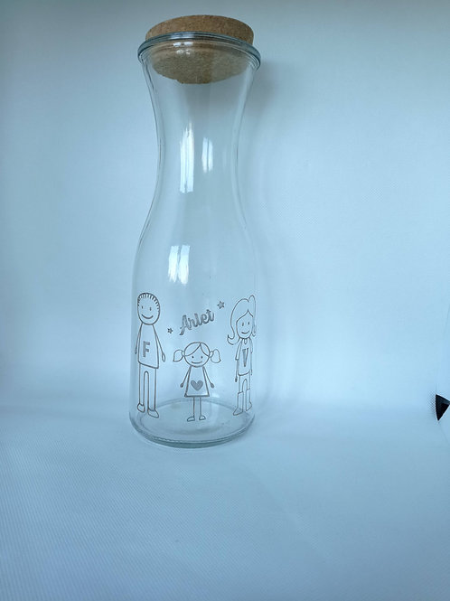 Botella de cristal personalizada