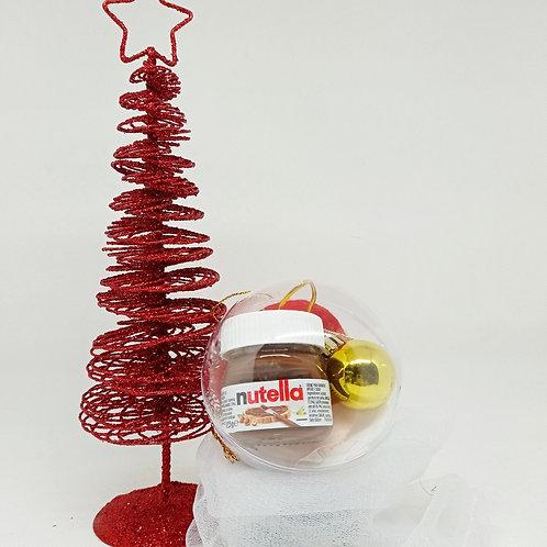 Bola árbol Navidad personalizada con regalo