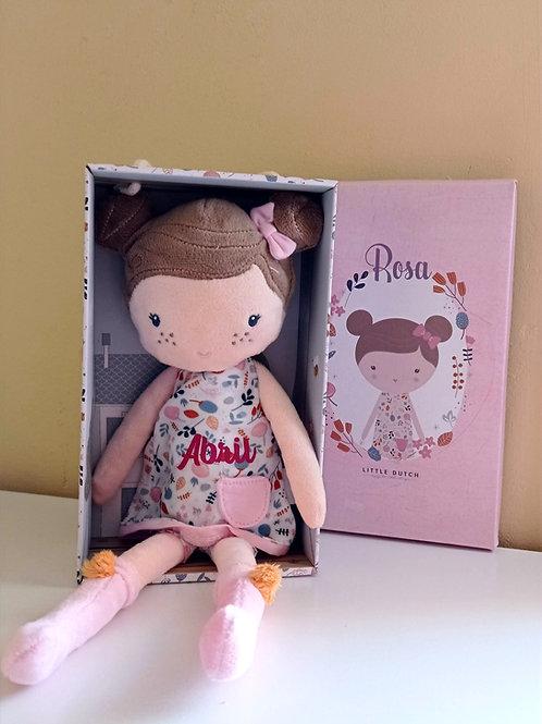 Muñeca blanda personalizada con el nombre