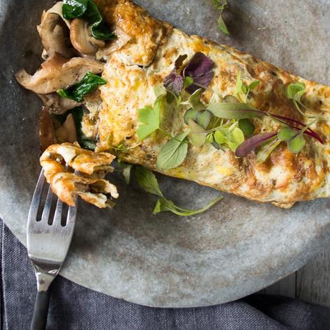 Well Nourished - Garlic mushroom omelette