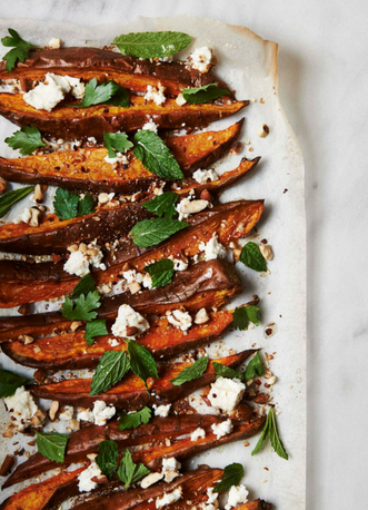 The Beauty Chef Sweet potato wedges with almond & chilli