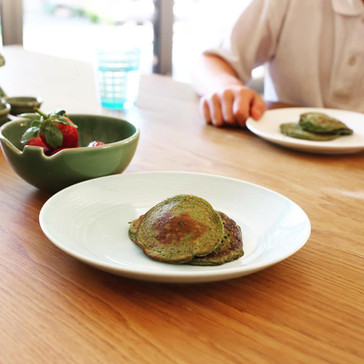 Egg Banana Spinach pikelets