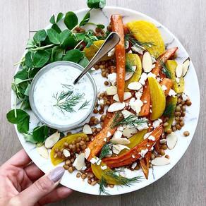 Roasted Carrot, Golden Beet & Lentil Salad