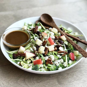 Brussel Sprout & Broccoli Salad