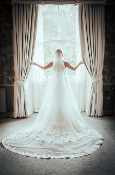 Bespoke Bridal Veil - Lace Edge