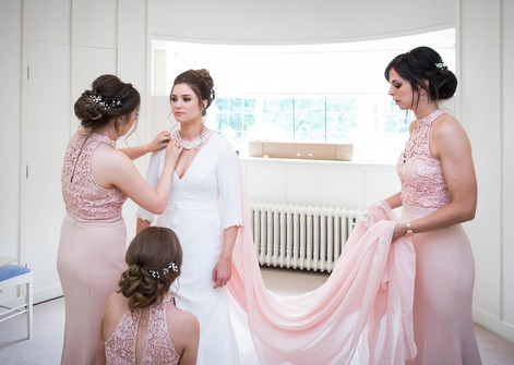 3D Flower Peach Bespoke Bridal Cape