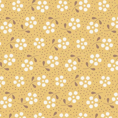 DOTTY FLOWERS MUSTARD