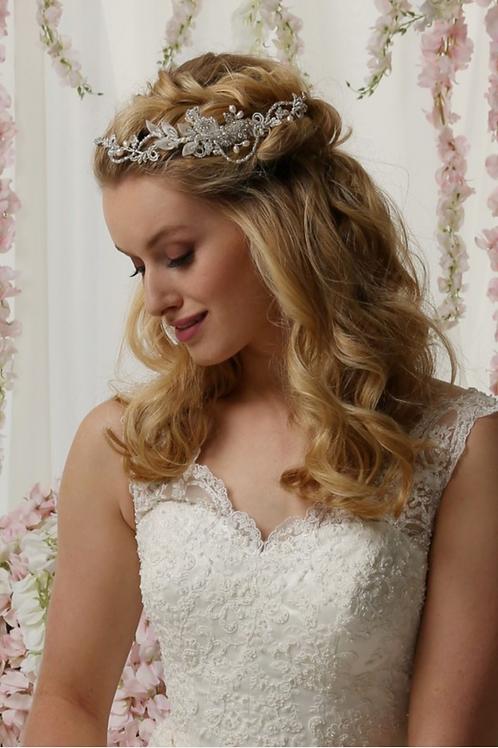 Pearl & Lace Hair Vine