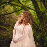 Bespoke Italian tulle cape made with sourced matching lace.