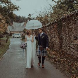 Bespoke Bridal Dress - Delicate Chantilly lace. Empireline silk chiffon skirt.