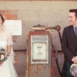 Bespoke Wedding Dress - Chantilly lace bodice, heirloom lace belt and silk crepe skirt.