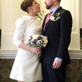 Bespoke Alternative Wedding Dress - Silk crepeshort 1960's inspired shift dress.