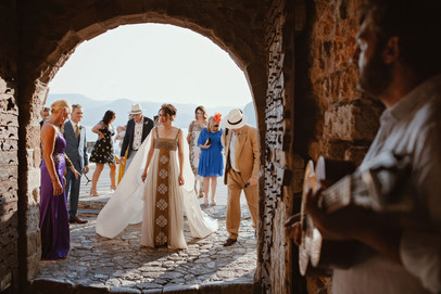 Bespoke Grecian Bridal Cape