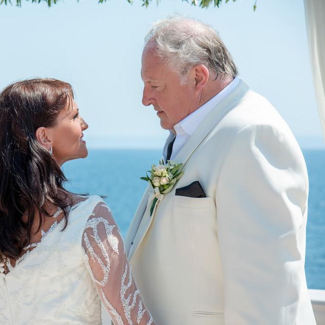 Luxury Bespoke Bridal Gown - Beaded tulle hand sewn onto luxury crepe dress.