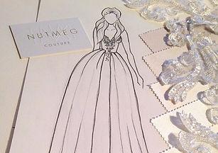 Bespoke Bridal Design, Sketch Fabric Samples