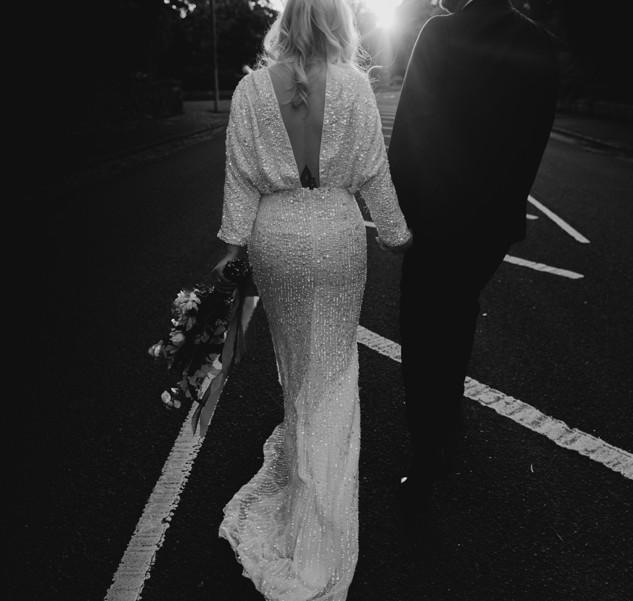 Kimono wedding dress restyle