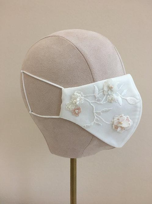 Luxury Ivory Bridal Mask