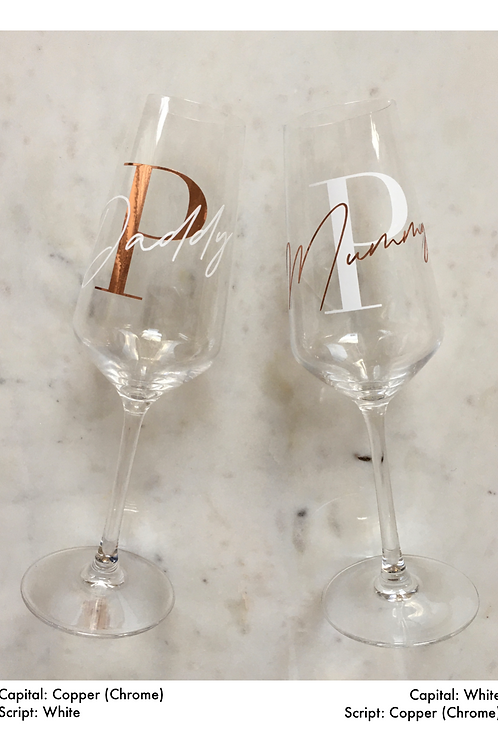 Set of Personalised Champagne Flutes