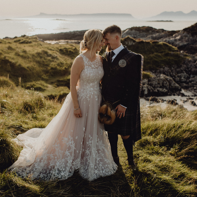 Bespoke Wedding Dress - Starry embroidery with soft dreamy tulle and twinkly glitter layered skirt on a