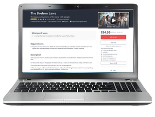 Brehon Laws Online Course Launched