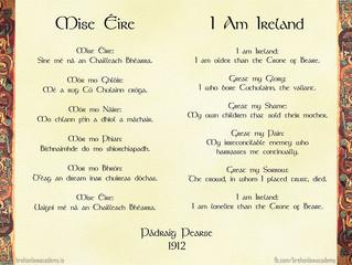 Míse Éire - I Am Ireland: A Poem by Padráig Pearse 1912