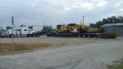 490 Trackhoe with Drill