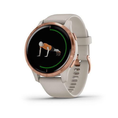 GARMIN GPS-Sportuhr Venu Sand Rosegold
