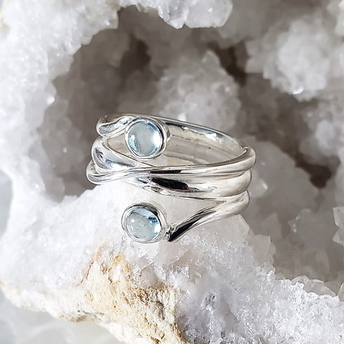 Erin Blue Topaz Ring