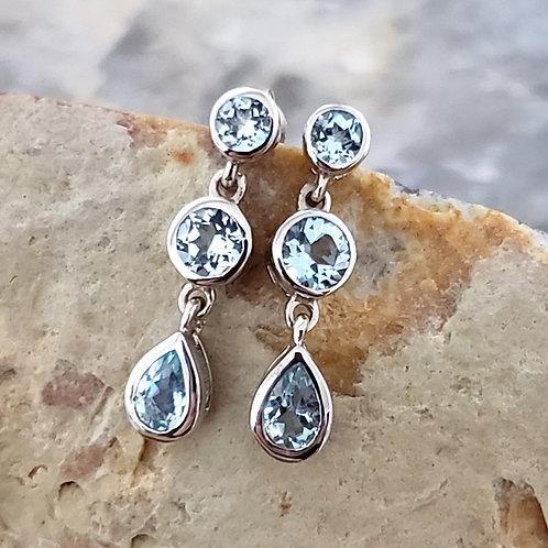 Celeste Blue Topaz Earrings