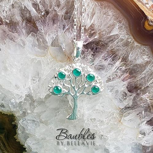 Green Onyx Tree of Life Pendant