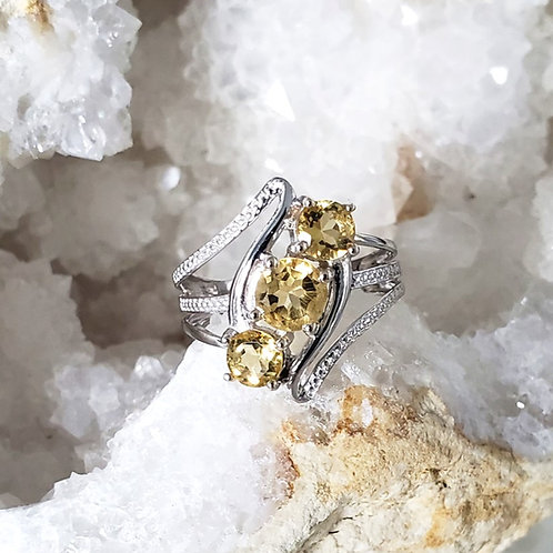 Heidi Citrine Ring