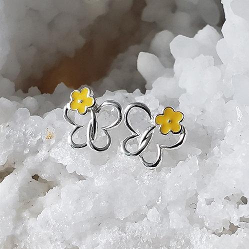 Maisie Daisie Earrings - Yellow