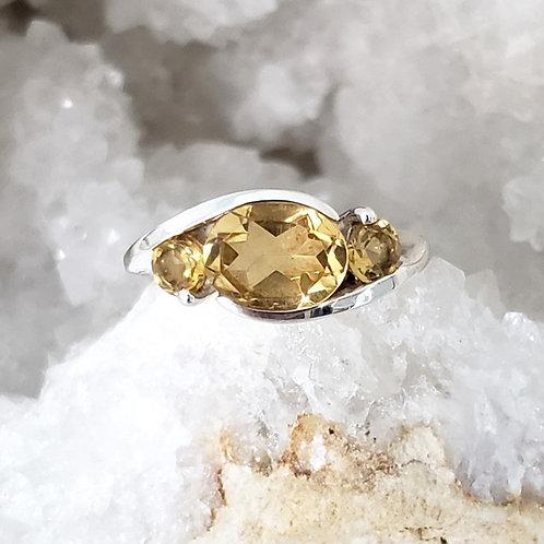 Selena Citrine Ring