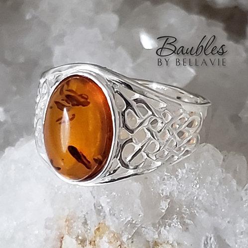 McKenna Amber Ring