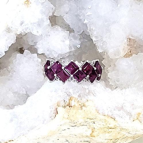 Vanessa Rhodolite Garnet Ring