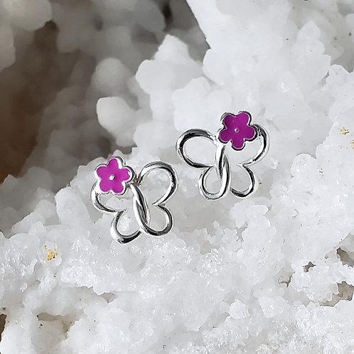 Maisie Daisie Earrings - Purple